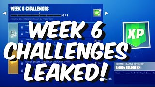 Season 7 Week 6 Challenges Leaked In Fortnite Battle Royale