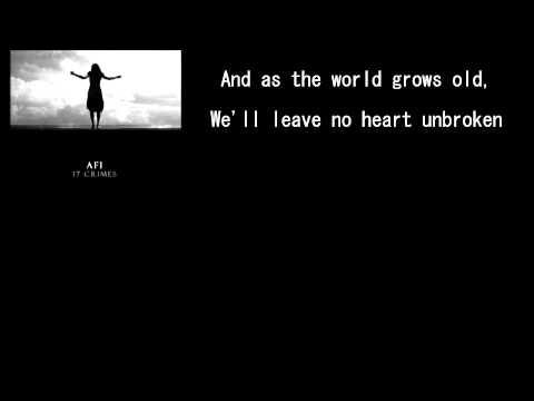 17 Crimes by AFI (Lyrics On Screen)