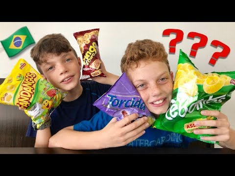 Americans Try Salty Brazilian Snacks