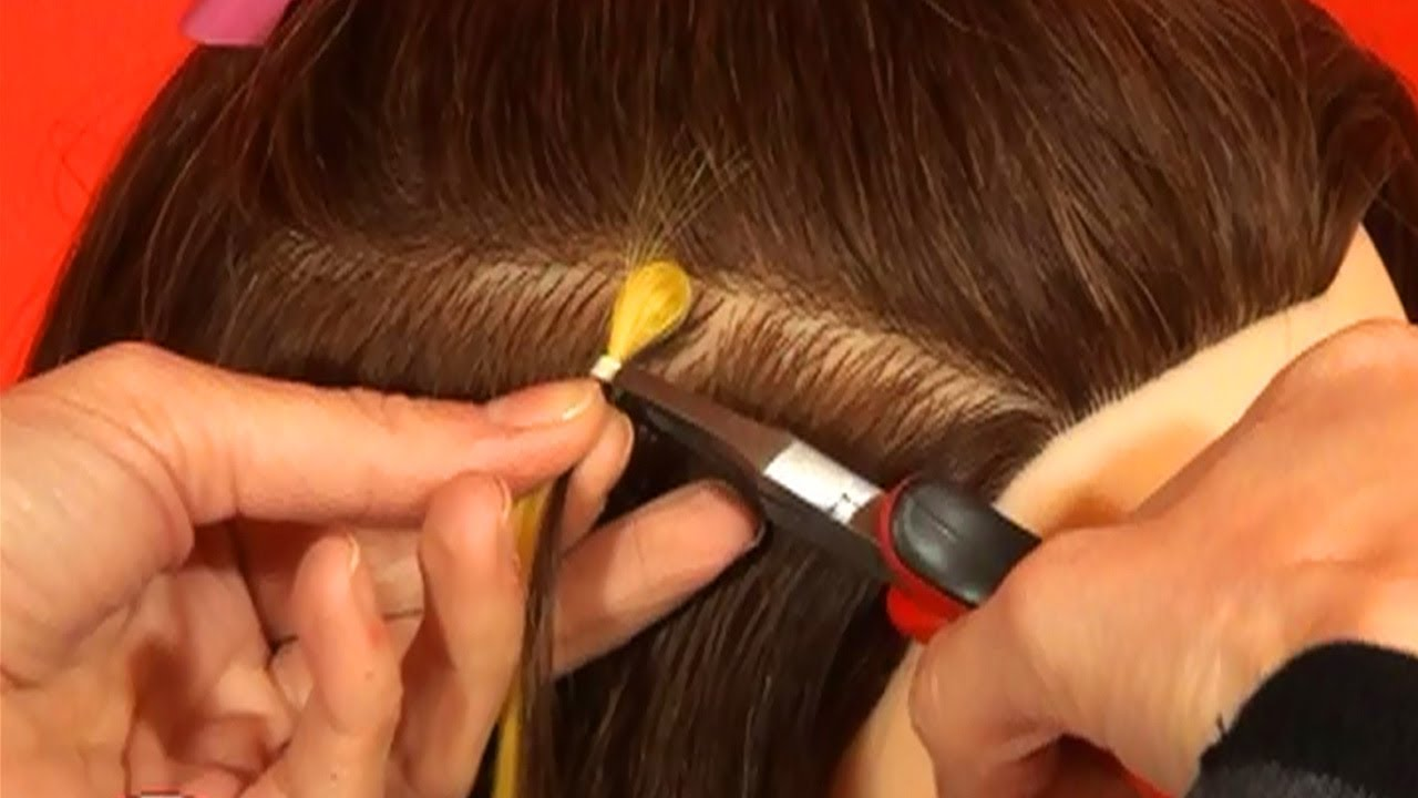 Installing Bulk Human Hair Extensions With Linkies