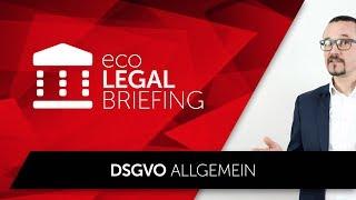 eco LEGAL BRIEFING - DSGVO Allgemein