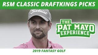Fantasy Golf Picks - 2019 RSM Classic Picks, DraftKings Preview, Odds,