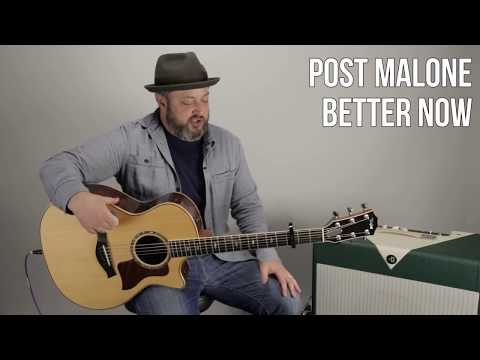 "Post Malone ""Better Now"" Guitar Lesson (Easy Acoustic)"