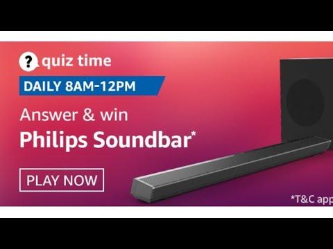 Amazon Quiz Answers Today | 8 September 2020 | Win Philips Soundbar - YouTube