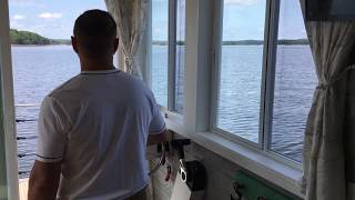 Tiny Houseboat Jordan Lake Nc Darren Driving