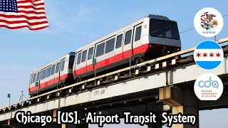 Chicago O'Hare airport, Etats-unis [USA] ATS VAL 256 Train - Terminal 1 → Remote Parking lots