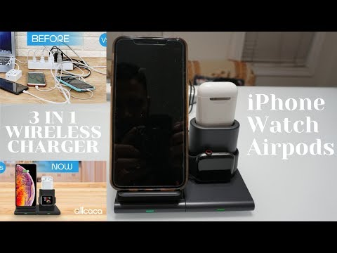 Wireless Charger, 3 in 1 Charging Station for Apple iPhone, Watch and Airpods