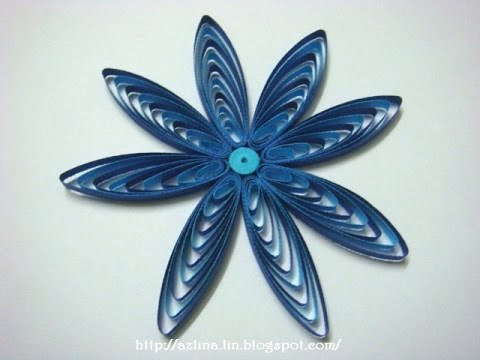 Papercraft How to make a two tone cascading loops flower using a quilling comb
