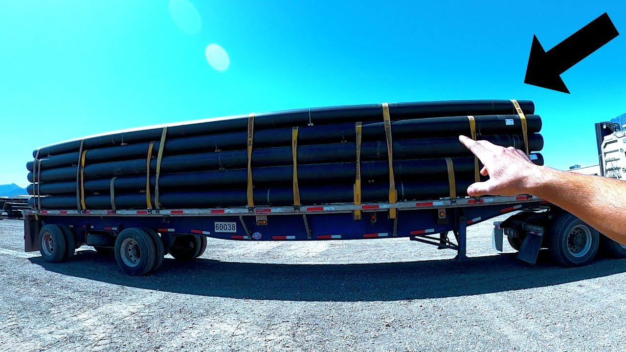 I Hauled Pipes For The First Time With My Semi Truck!