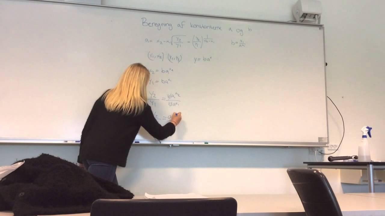 Beregning af Konstanterne a og b -eksponentiel