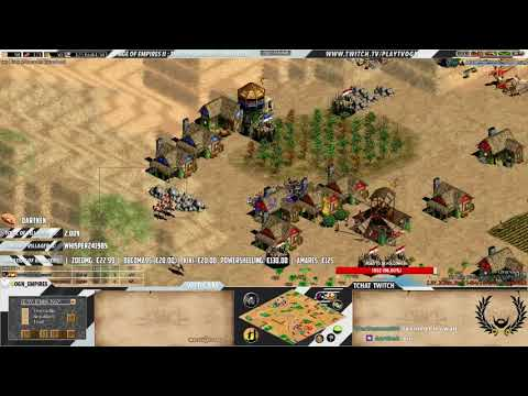 Age of empires II - Expert Players - TaToH vs China N°2 - ARABIA - FRANCS WAR