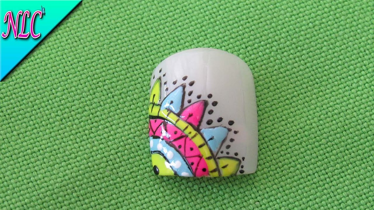 DECORACIÓN DE UÑAS MANDALAS - MANDALAS NAIL ART - NLC - YouTube