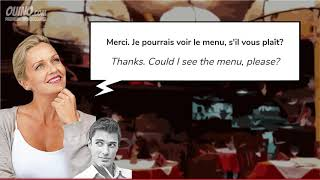 1 Learn French with Conversations  #8   Arriving at the Restaurant   OUINO com   YouTube 2