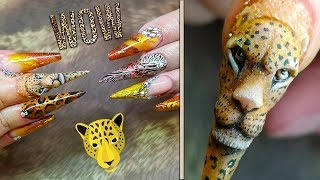 3D LEOPARD FACE - ANIMAL PRINT FULL SET