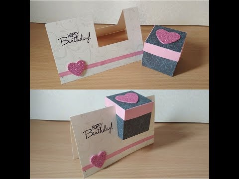 Diy Gift box in a card|Birthday card|Arty Hearty
