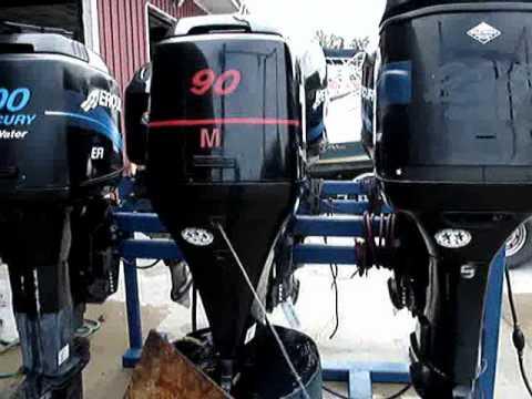 2004 mercury 4 stroke 90 hp outboard motor youtube for Mercury 90 hp outboard motor