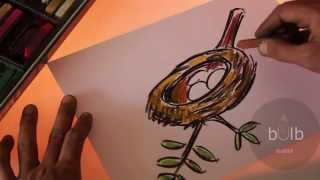 How To Draw A Nest | Scribble For Kids
