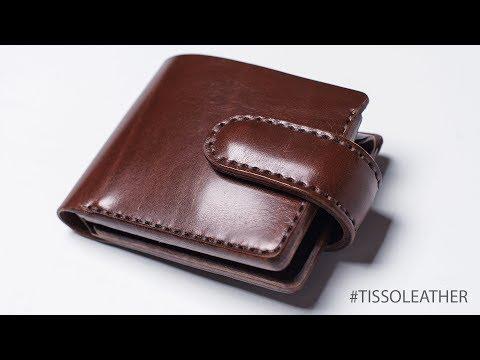 13c0d72c26b3 Классическое мужское портмоне (кошелек) с монетницей. Изделия из кожи ручной  работы Tissoleather - Смотреть видео онлайн