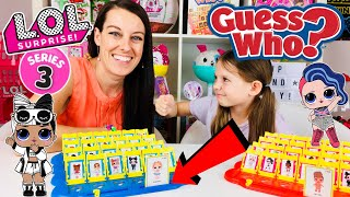 WE PLAY LOL SURPRISE GUESS WHO GAME!! SERIES 3 CONFETTI POP DOLLS | DIY CUSTOM L.O.L DOLL TOYS