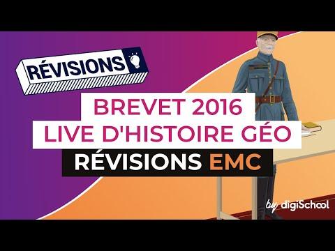 Brevet 2016 : Révisions d'Histoire Géo EMC en live avec digiSchool (replay 09.06.2016)