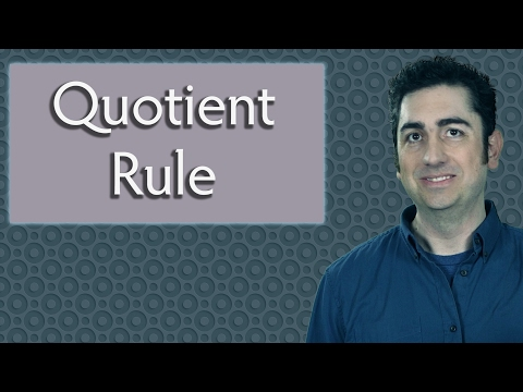 The Quotient Rule  (Calculus)