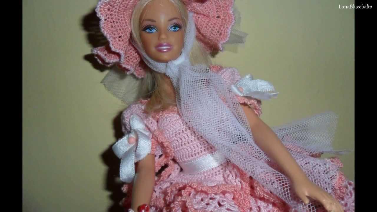 Lavori Artistici Alluncinetto Abito Barbie 1 Youtube
