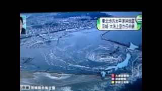 Japan Earthquake Whirlpool During Tsunami