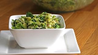 Bacon Avocado Brussels Sprout Salad with Lemon Vinaigrette