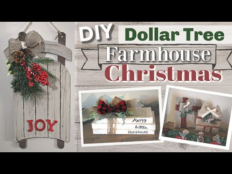 DIY Dollar Tree Christmas 2018 | DIY Dollar Tree Farmhouse Christmas Decor | KraftsbyKatelyn