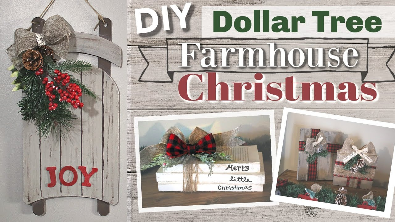 Diy Dollar Tree Christmas 2018 Diy Dollar Tree Farmhouse Christmas Decor Kraftsbykatelyn Youtube