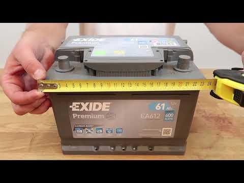 Автомобильный аккумулятор EXIDE Premium EA612: обзор аккумулятора
