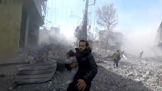 Rund 100 Tote nach Angriffen auf syrisches Rebellengebiet