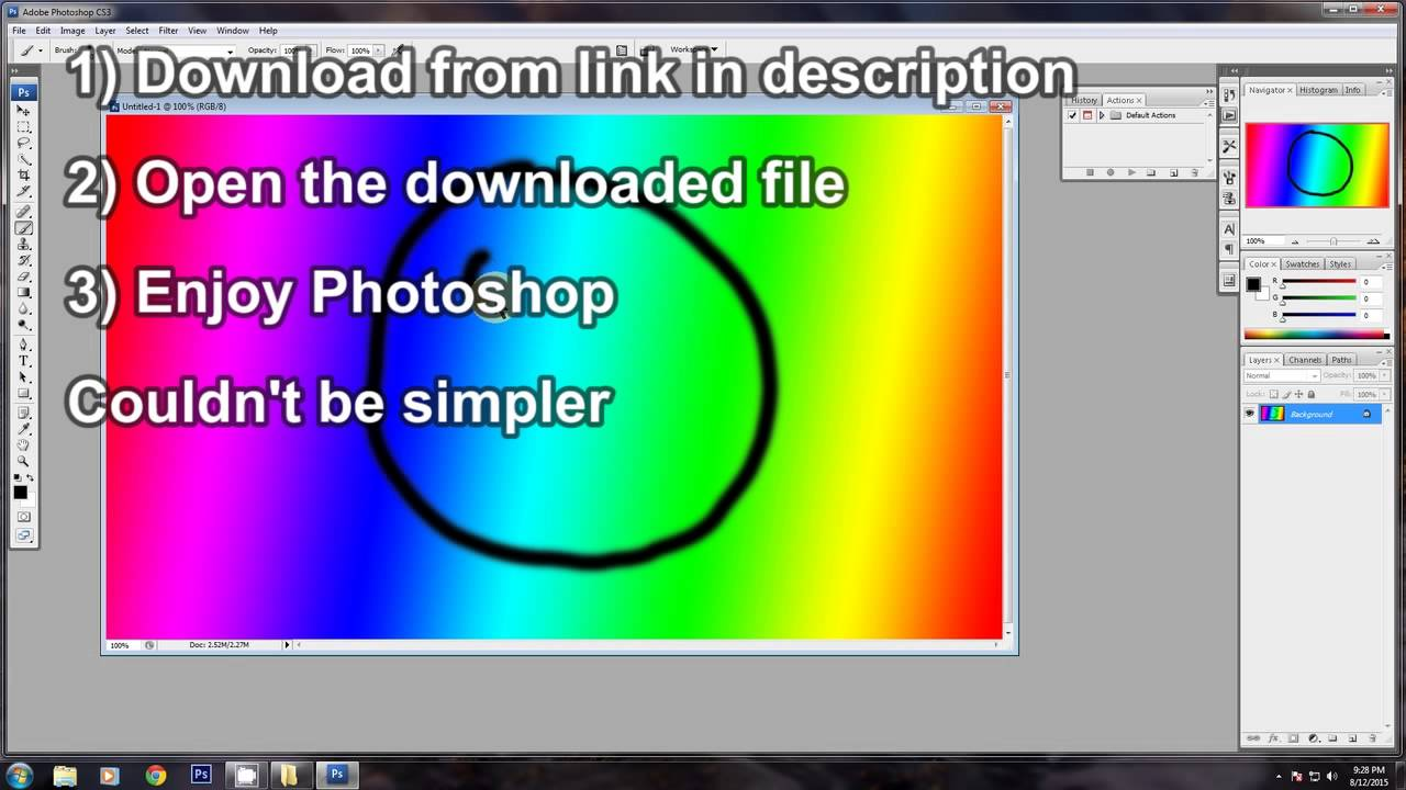 Photoshop portable cs6 #download + #tutorial youtube.