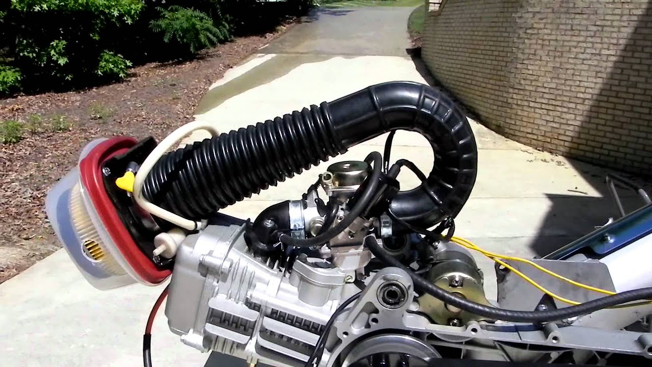 hight resolution of gy6 engine bench test