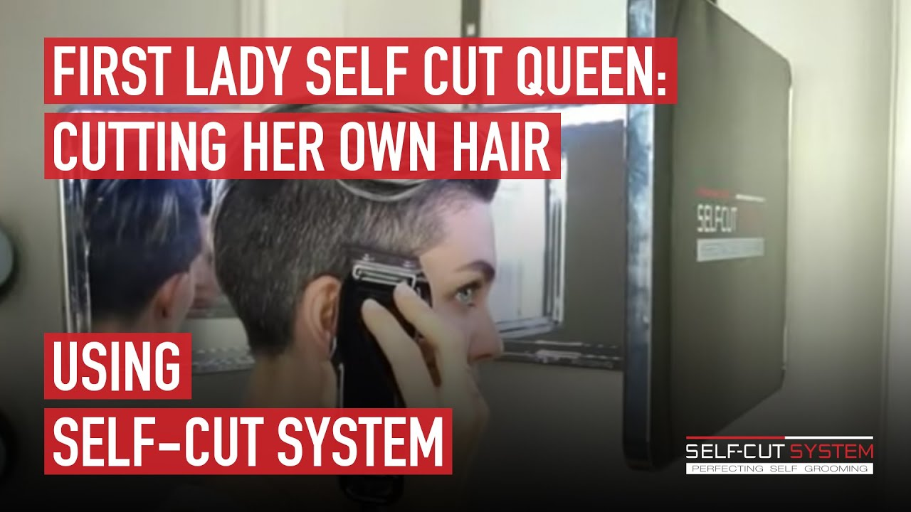 First Lady Self Cut Queen Cutting Her Own Hair Using Self