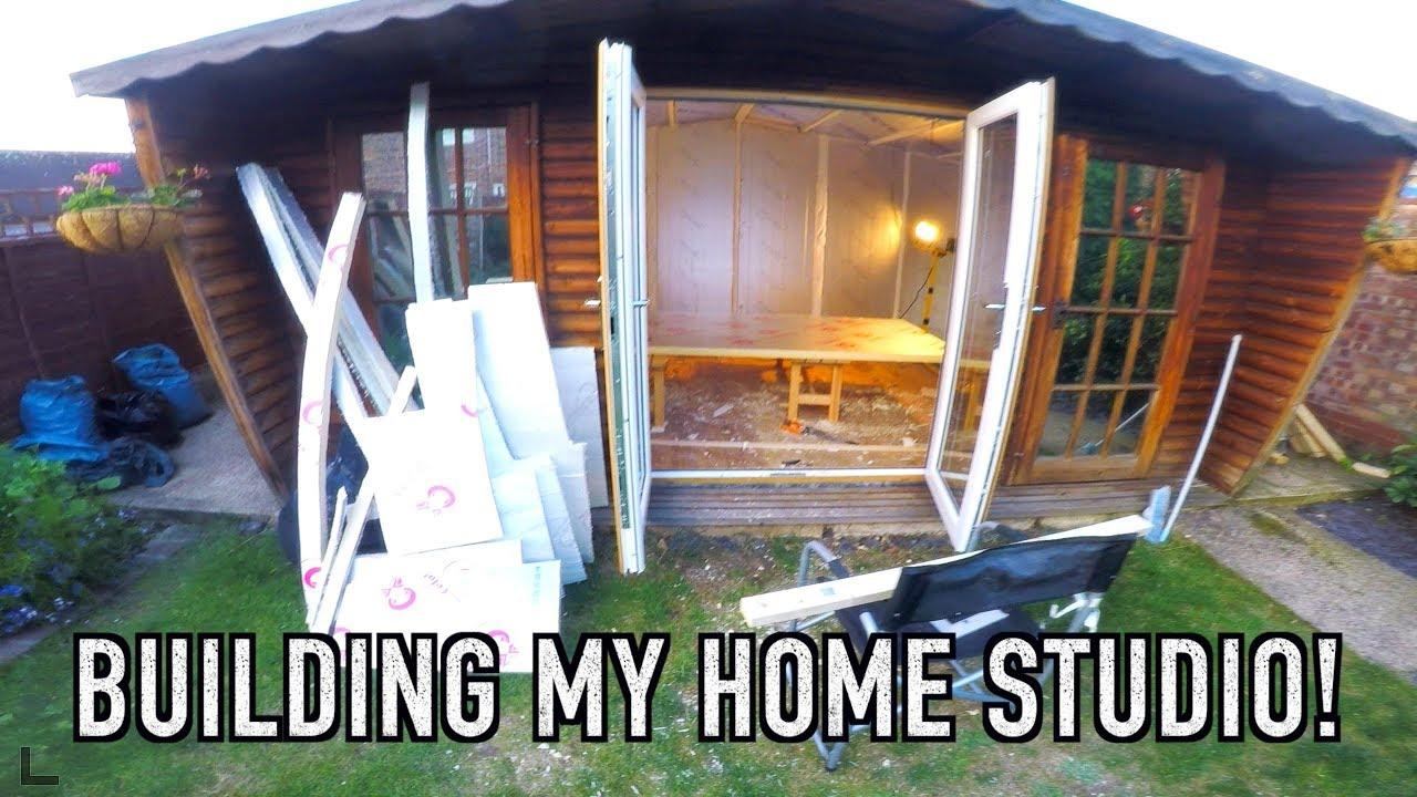 Building My Home Recording Studio - YouTube
