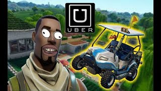 A default skin gave me an Uber ride on Fortnite Battle Royale