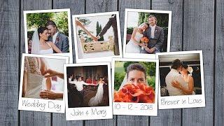 Polaroid Photo Collage Photoshop Template Tutorial