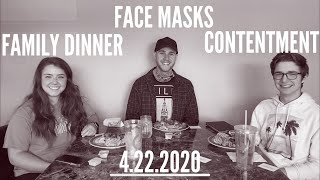 Family Dinner, Face Masks, and Contentment-ESM One Take Talks 4.22.20