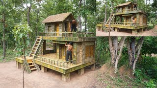 Building The Most Creative Luxury Villa By Bamboo In Jungle