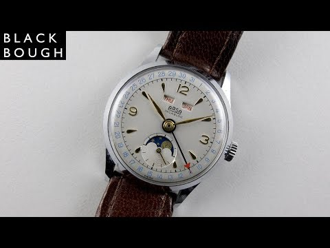 ARSA chrome and steel vintage wristwatch, circa 1950