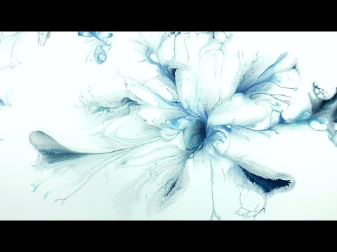 (235) How to paint a snowflakes with a hammer - Acrylic pouring tutorial - Fluid art thumbnail