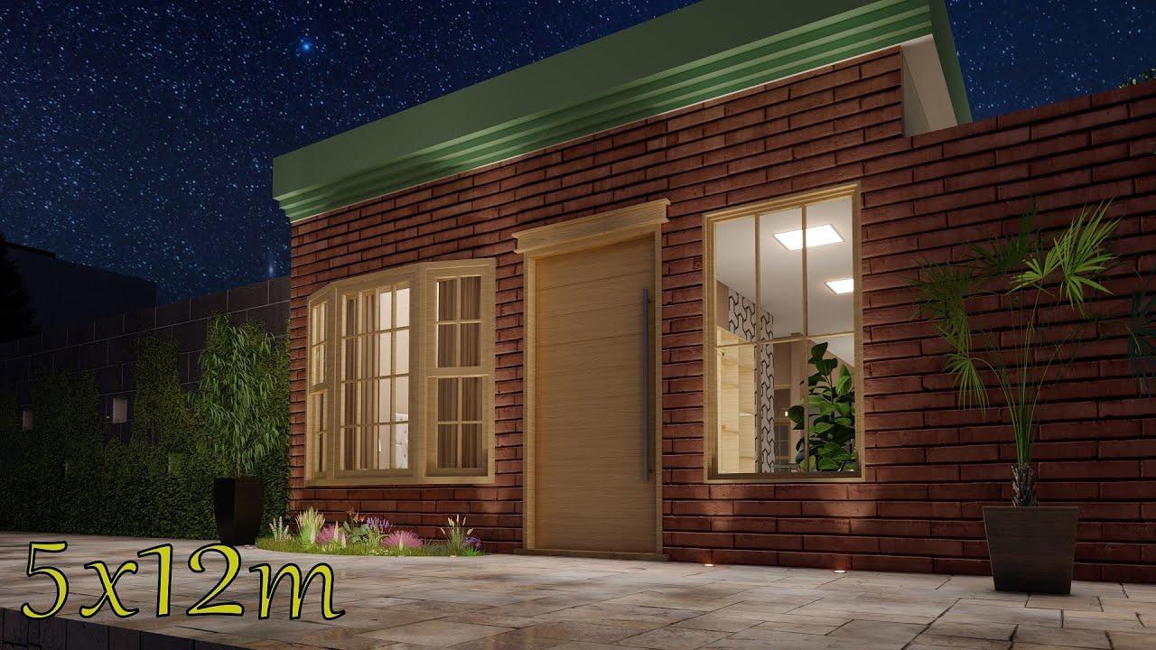 Plano de casa 5x12 metros | House 5x12