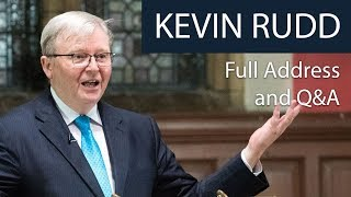 Kevin Rudd | Full Address and Q&A at The Oxford Union
