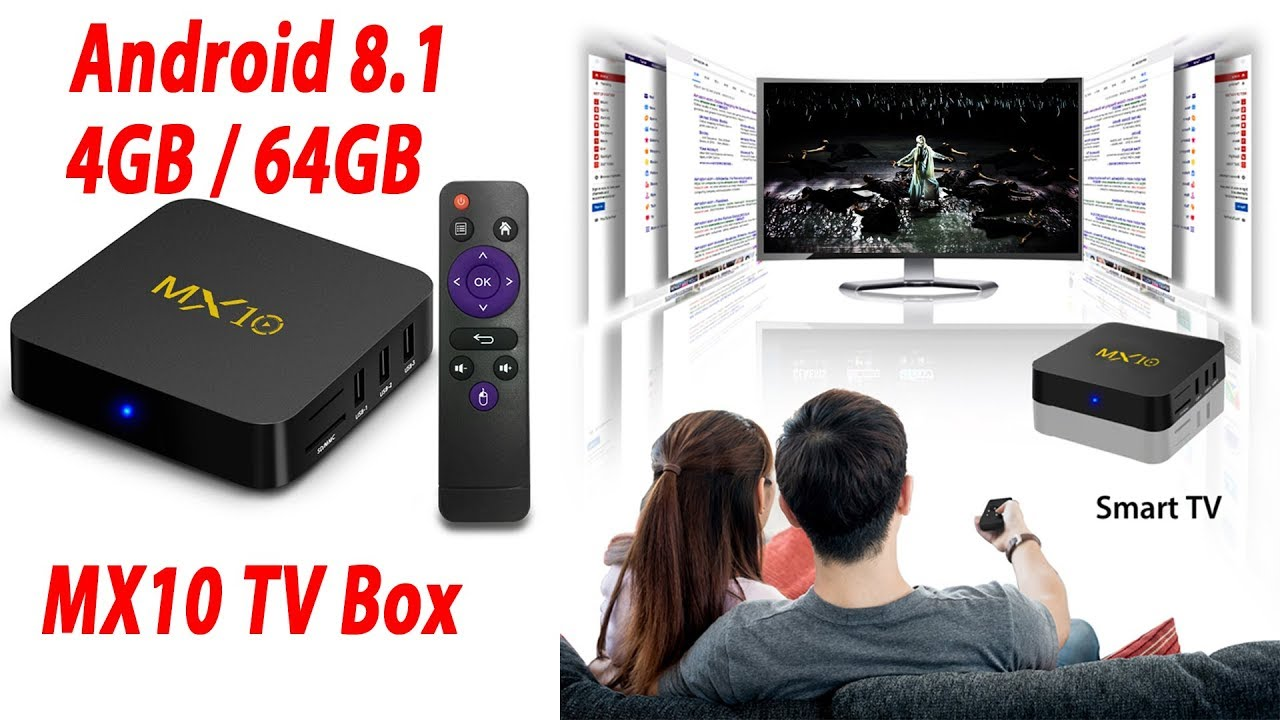 tv box android 8.1 4gb 64 gb 4k  MX10 Android 8.1 TV Box 4GB / 64GB 4K Supported UK Plug - YouTube