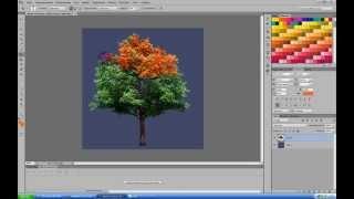 Уроки фотошоп для каждого-как сделать осеннее дерево