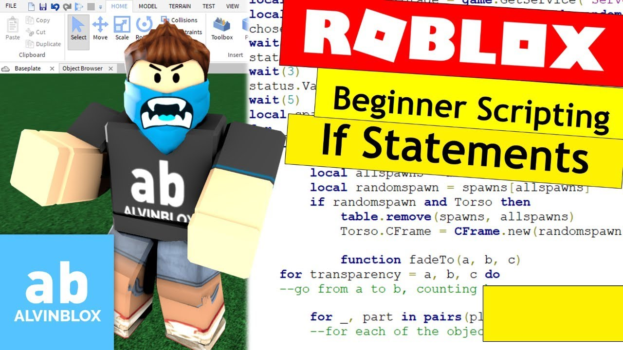 Roblox Lua Else If Roblox If Statements Tutorial How To Script On Roblox For Beginners 2017 Youtube