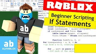 Roblox If Statements Tutorial - How To Script On Roblox For Beginners 2017