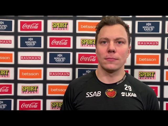 Erik Gustafsson inför bortamatchen mot Växjö