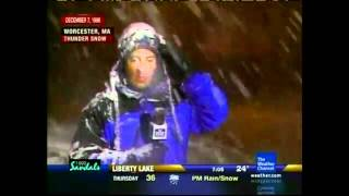 Jim Cantore 4 Thundersnow Reactions